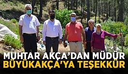 Gazipaşa'da muhtar Akça'dan müdür Büyükakça'ya teşekkür