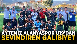 Aytemiz Alanyaspor U19'dan sevindiren galibiyet