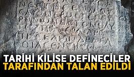 Tarihi kilise defineciler tarafından talan edildi