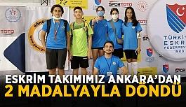 Eskrim takımımız Ankara'dan 2 madalyayla döndü