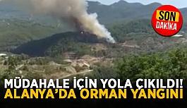 Müdahale için yola çıkıldı! Alanya'da orman yangını
