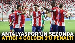 Antalyaspor'un sezonda attığı 4 golden 3'ü penaltı
