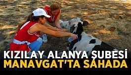Kızılay Alanya Şubesi ekipleri Manavgat'ta sahada