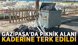 Gazipaşa'da piknik alanı kaderine terk edildi
