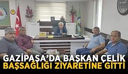 Gazipaşa'da başkan Çelik başsağlığı ziyaretine gitti