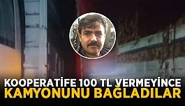 Gazipaşa'da vatandaşın kamyonu bağlandı