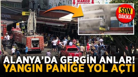 Alanya'da gergin anlar! Yangın paniğe yol açtı