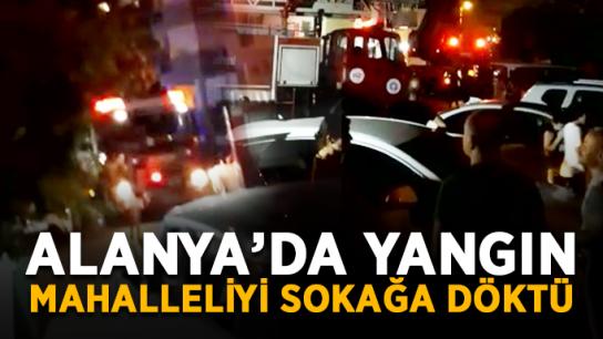 Alanya'da yangın mahalleliyi sokağa döktü