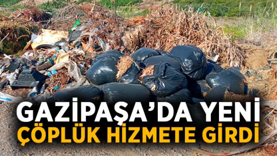 Gazipaşa'da yeni çöplük hizmete girdi